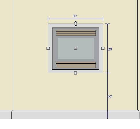 """Window and screen set to 32"""" by 29"""" set 27"""" above the floor"""