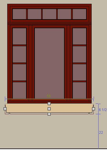 Creating a mulled window and window planter box for Mulled unit window